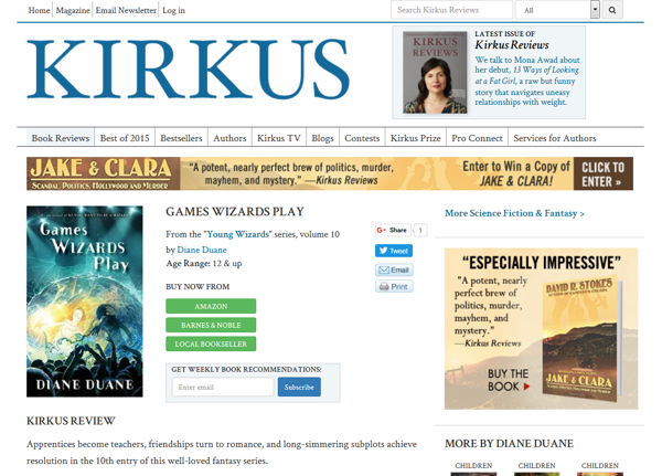 GWP Kirkus review page